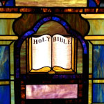 Stained Glass Bible Image